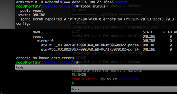 ZFS Root Mirror Zpool